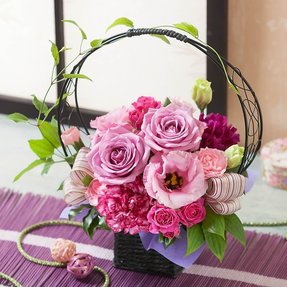 母の日 アレンジメント「紫艶~癒しのひと時~」