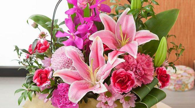 母の日 アレンジメント「華籠~華麗な贈り物~」
